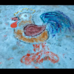 """Конкурс рисунков на снегу """"Зимние цветы"""""""